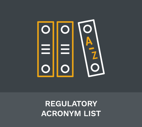 Regulatory Acronym List