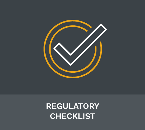 Regulatory Checklist
